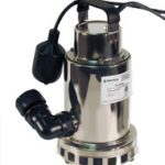 Submersible pool pump University Pools uses to drain water prior to preforming a pool acid washing service